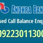 Andhra Bank Check Balance Enquiry