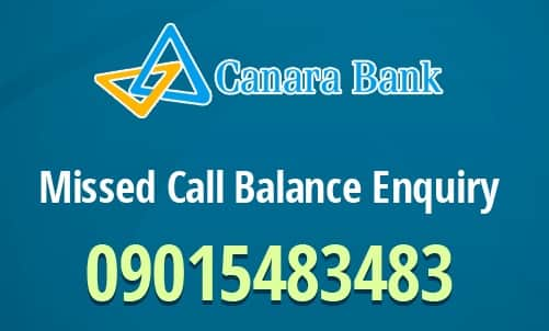 Canara Bank Check Balance Enquiry