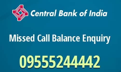Central Bank of India Check Balance Enquiry