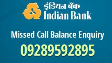 Indian Bank Check Balance Enquiry